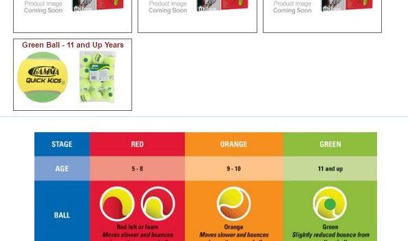 junior tennis equipment