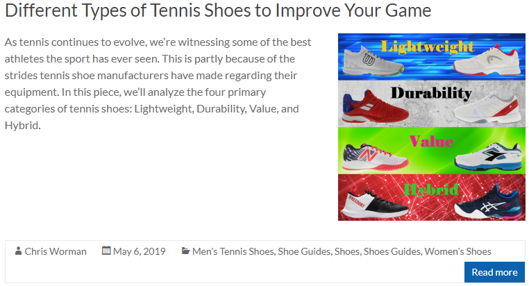 Different Types of Tennis Shoes to Improve Your Game