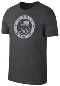 Nike Men's USOC Tee in Black Heather