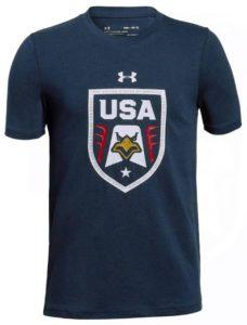 Under Armour Boys` USA Eagle Short Sleeve Tee Academy