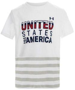 Under Armour Boys` USA Short Sleeve Tee White