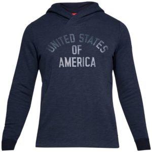 Under Armour Men's USA Fleece Pull Over Hoodie Midnight Navy