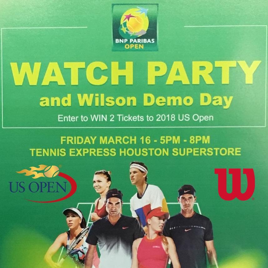 BNP Paribas Open Watch Party at Tennis Express Thumbnail