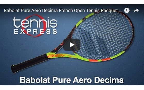 Babolat Pure Aero Decima French Open Tennis Racquet Review | Tennis Express