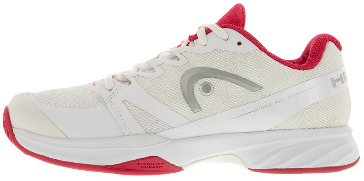 Head Women's Sprint Pro 2.5 Tennis Shoes in White and Pink