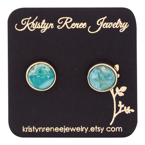 Kristyn Renee Jewelry Gold Plated Turquoise Earrings