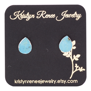 Kristyn Renee Jewelry Silver Plated Turquoise Earrings