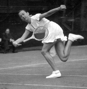 Gertrude Moran 1949 Wimbledon