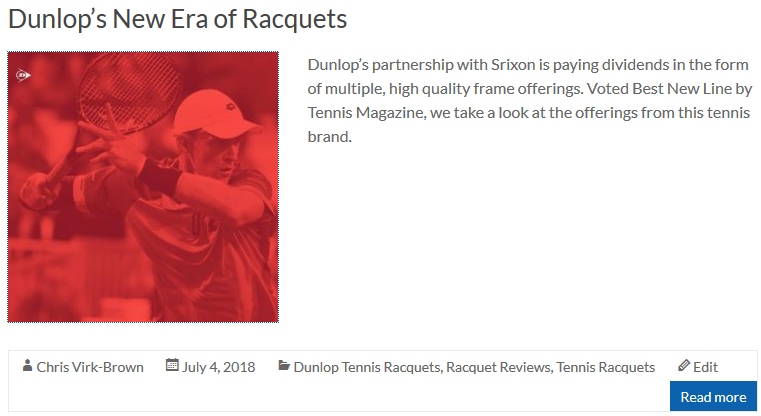 Dunlop's New Era of Racquets