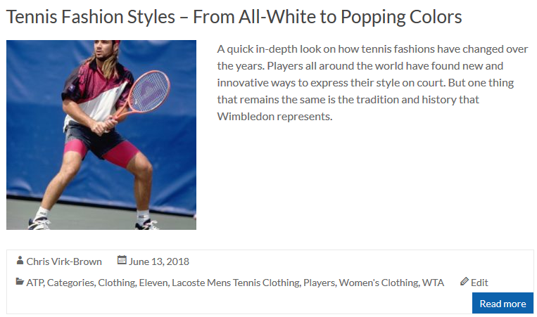 Tennis Fashion Styles - From All-White to Popping Colors