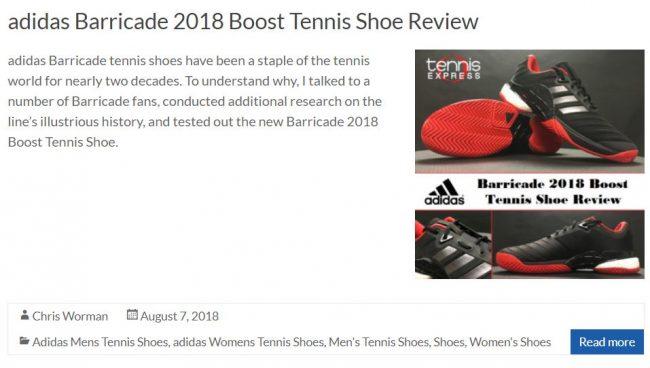 Adidas Barricade 2018 Tennis Shoe Review