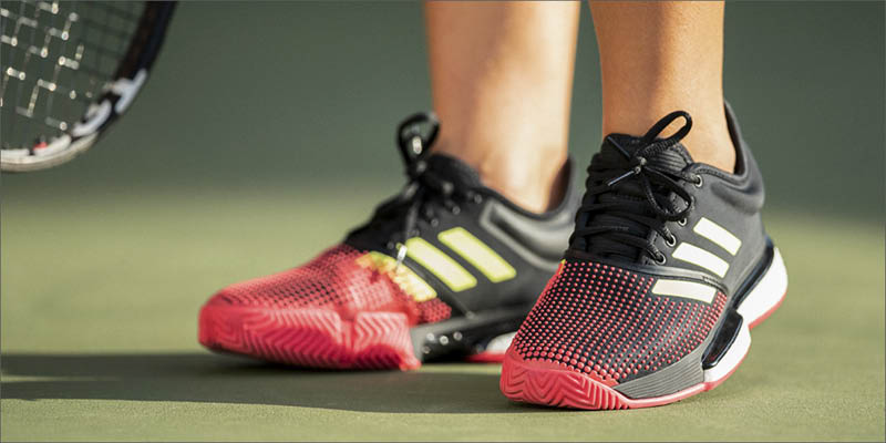 adidas SoleCourt Boost Tennis Shoes in Action