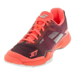 Babolat Womens Jet Mach 2 Fluo Pink and Silver