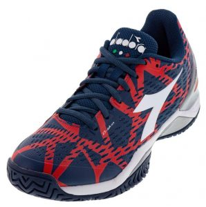 Diadora Mens Speed Blushield 2 Dark Blue and Red Capital