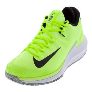 Men's NikeCourt Air Zoom Zero Volt Glow and Black