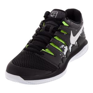 Men's NikeCourt Air Zoom Vapor X Acid Black and White
