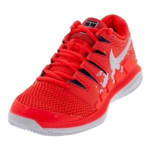 Womens NikeCourt Air Zoom Vapor X HyperCrimson and White