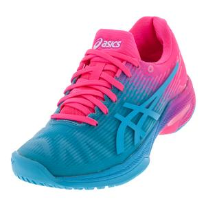 Asics Womens Solution Speed FF LE Aquarium and Hot Pink