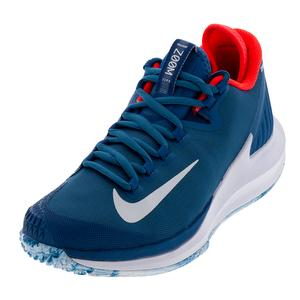 Women's NikeCourt Air Zoom Zero Industrial Blue and White