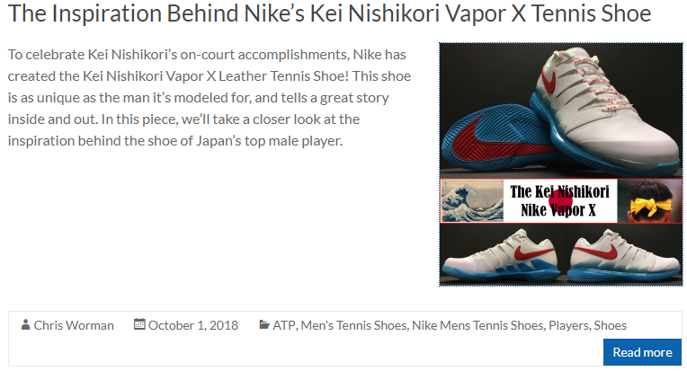 The Inspiration Behind Nike's Kei Nishikori Vapor X Tennis Shoe