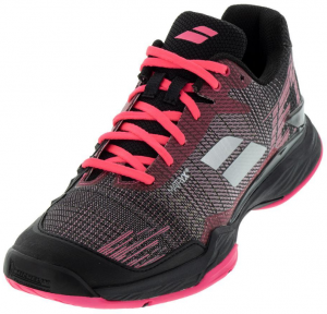Babolat Women's Jet Mach II Clay Tennis Shoes in Pink and Black