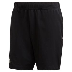 Adidas Mens Escouade 7 Inch Tennis Shorts in Black