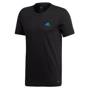 Adidas Mens Paris Graphic Tennis Tee in Black